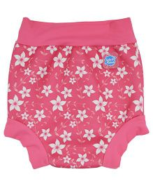 Splash About Floral Print Shorts For Swimming - Pink