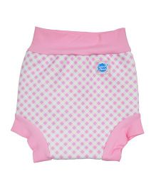 Splash About Checks Print Shorts For Swimming - Pink
