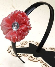 D'Chica Flower Design Hairband - Red