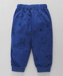 Little Kangaroos Full Length Lounge Pant Space Print - Royal Blue