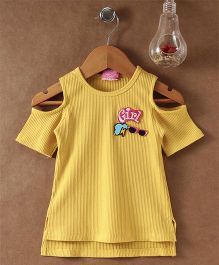 Little Kangaroos Cold Shoulder Top Girl Patch - Yellow