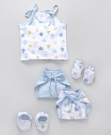 Ohms Clothing Set Puzzle Print Pack Of 5 - Blue White