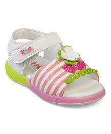 Kittens Floral & Bows Sandals - White