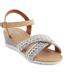 Kittens Trendy Heel Sandals - Beige