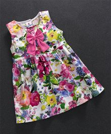 Child World Sleeveless Frock Floral Print - Multicolor