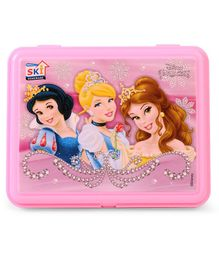 Disney Princess Theme Lunch Box With Fork - Purple