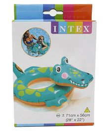 Intex Alligator Inflatable Swimming Tube - Blue Green