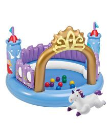 Intex Magical Castle Jumpoline Toy - Blue Purple