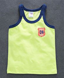Taeko Sleeveless Vest Street Game Print - Green