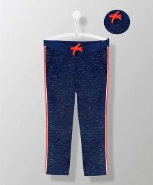 Cherry Crumble California Side Striped Cotton Blend Sweatpants - Blue