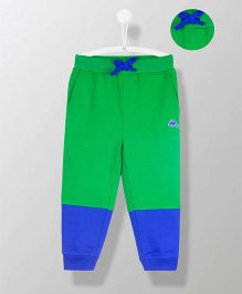 Cherry Crumble California Colorblock Track Pants - Green & Blue