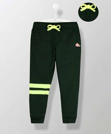Cherry Crumble California Striped Sweatpant - Green