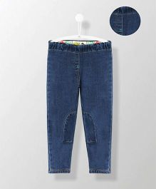 Cherry Crumble California Stretchy Patched Jeggings - Blue