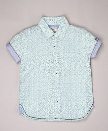 Pepe Jeans Printed Casual Shirt - Blue