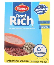 Manna Ragi Rich Cereal Based Food - 200 gm