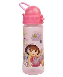 Dora Sipper Bottle With Handle Pink - 500 ml