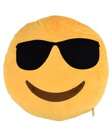 Curtis Cool Dude Smiley Cushion Yellow - 30 cm