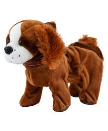 Curtis Toys Swiggy Wiggly Musical Plush Dog Toy Brown - Length 25 cm