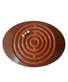 The Wobble Balance Maze Board Puzzle Game - Brown