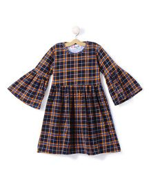 M'andy Checkered Dress - Blue