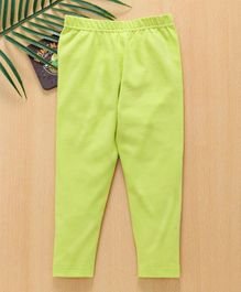 Babyhug Full Length Stretchable Leggings - Light Green