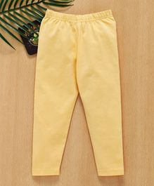 Babyhug Full Length Stretchable Leggings - Light Yellow