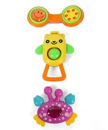 Dr.Toy Baby Rattle Set Pack of 3 - Yellow Purple