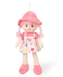 Starwalk Candy Doll With Dungaree Style Frock Star Print Red - Height 45 cm
