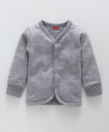Babyhug Front Open Thermal Vest - Light Grey