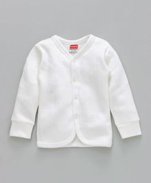 Babyhug Front Open Thermal Vest - Off White