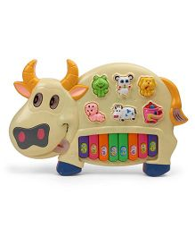 Dr. Toy Musical Cow Shape Piano - Cream