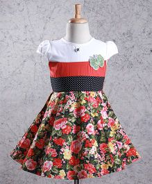 Enfance Flower Printed Dress - Red
