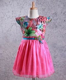 Enfance Printed Netter Dress - Pink