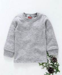 Babyhug Full Sleeves Pullover Thermal Vest - Light Grey