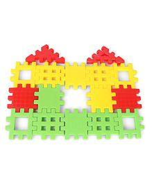 Fair Happy Home Junior Building Blocks Multi Color - 16 pieces