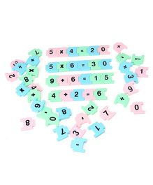 Count And Link  Jigsaw Puzzle - Multi Color