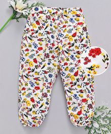 Babyhug Full Length Lounge Pant Floral Print - Multicolour