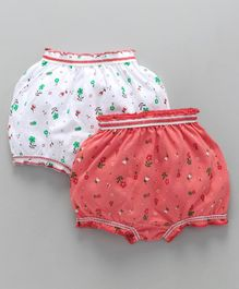 Babyhug Bloomers Floral Print Pack of 2 - Peach White