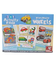 Toy Kraft 3 in 1 Activity Kit Play & Display On Road - Multicolor