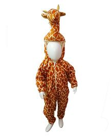 BookMyCostume African Giraffe Animal Fancy Dress Costume - Orange