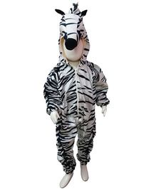 BookMyCostume Zebra African Equids Animal Fancy Dress Costume - White & Black