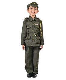 BookMyCostume Indian Army Soldier Fancy Dress Costume - Green