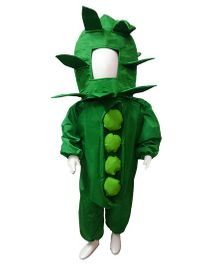 BookMyCostume Green Peas Fancy Dress Costume - Green