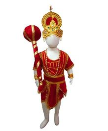 BookMyCostume Lord Hanuman Costume - Red