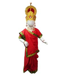 BookMyCostume Rani Sita Fancy Dress Costume Ramlila Dussehra Ramayana Mythology - Red
