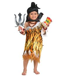 BookMyCostume Lord Shiva Shankar Bhagwan Hindu God Fancy Dress Costume - Brown