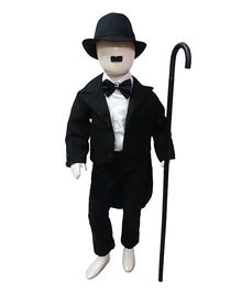 BookMyCostume Charlie Chaplin Fancy Dress Costume with Stick - Black & White
