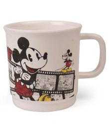Disney Coffee Mug Mickey Mouse Print Off White Red - 300 ml