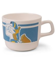 Disney Coffee Mug Donald Duck Print - Off White Blue