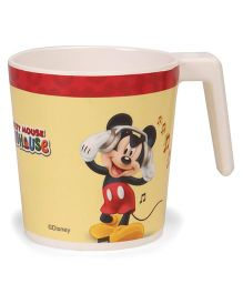 Disney Large Coffee Mug Mickey Print - Off White Red